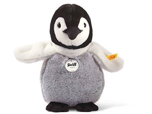Steiff Flaps Baby Penguin Stuffed Animal with Soft Woven Fur - Premium Plush Toy or Gift for Ages 3 and Up, Black/White/Grey
