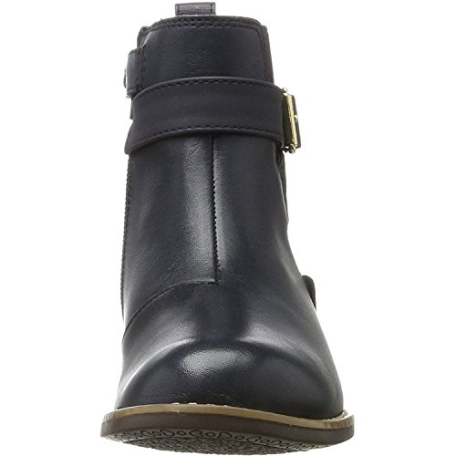 Tommy Hilfiger A3285ubrey 6C1 Midnight Leather Youth Ankle Boots Midnight