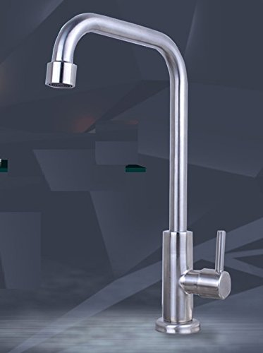 AWXJX Sink Taps kitchen stainless steel Into the wall Cold alone