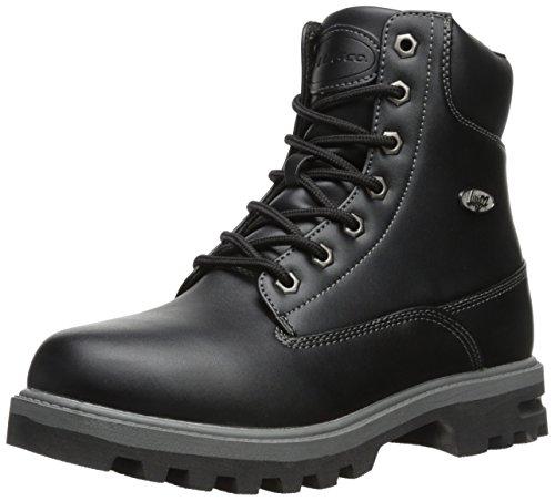 Lugz Men's Empire Hi WR Thermabuck Boot, Black/Charcoal, 10.5 D US