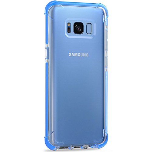 Price comparison product image S8 Plus Case,iBarbe Perfect Fits Samsung Galaxy S8 Plus Anti-Slip TPU Slim Protection Premium Clarity Thin Hard Protective Case Covers for Galaxy s8 Plus 2017(blue clear)