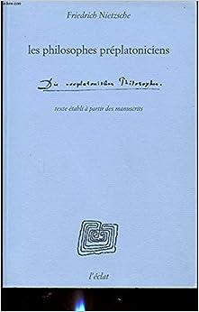 Book Les philosophes préplatoniciens