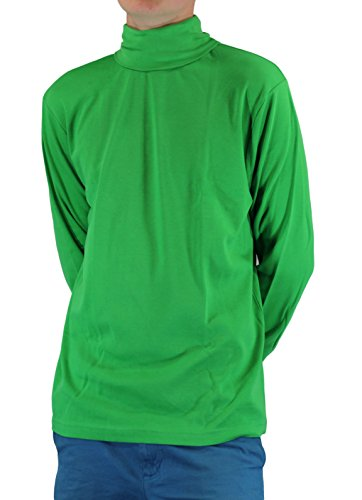 GREEN Men's Combed Cotton Euro Design Ski Casual Turtleneck (X-Large) by Maks