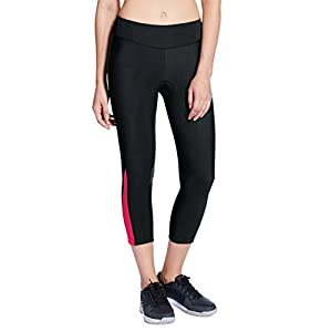 Baleaf Women's 3D Padded Cycling Compression Capri Tights Wide Waistband UPF 50+