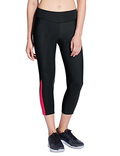 Baleaf Women's 3D Padded 3/4 Cycling Compression Tights Wide Waistband UPF 50+