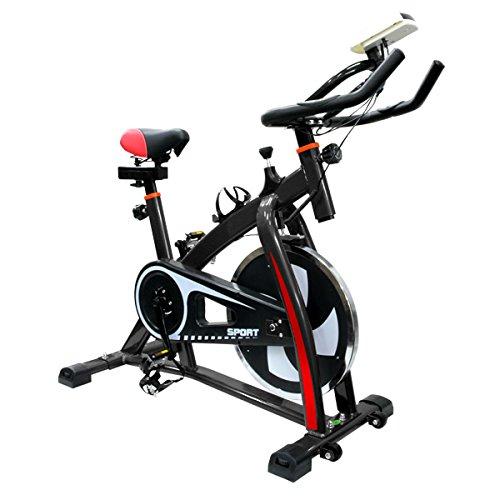 フィットネスバイク スピンバイク トレーニングバイク エクササイズバイク エクササイズ 室内用 サイクルトレーニング ルームバイク スピナーバイク スピニングバイク  ブラック B06XK21PVH