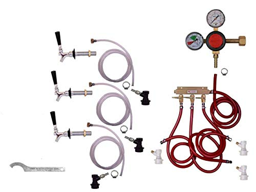 3 Faucet Fridge Premium Kit with Shank, Tailpiece and Standa