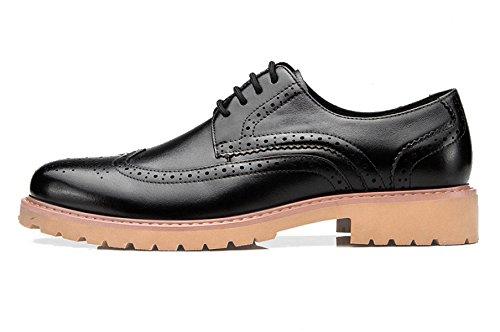 Bullock De Compensées à Décontractés à MSM4Men Les Pour Chaussures Talons Black Aider Souliers Lisses Low Soulager dqHaxnd