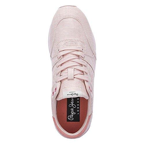 pour Baskets Pepe Rose Rose Femme London Jeans tzqqxEfH