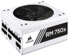CORSAIR RMx White Series fully modular power supplies are built with the highest quality components to deliver 80 PLUS Gold efficient power to your PC. Using only Japanese 105 Degree capacitors, users can depend on an RMx PSUs' long life and ...