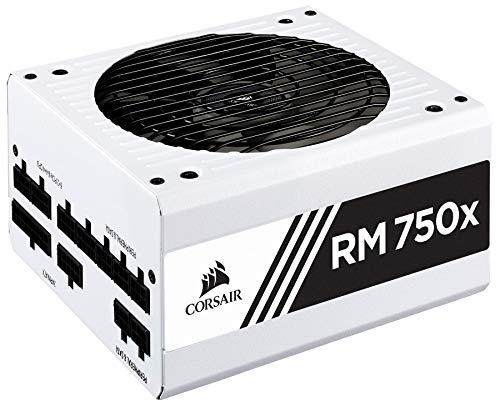 CORSAIR RMX White Series (2018), RM750x, 750 Watt, 80+ Gold Certified, Fully Modular Power Supply - White