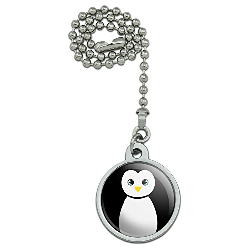 GRAPHICS & MORE Cute Penguin Black and White Ceiling Fan and Light Pull ()
