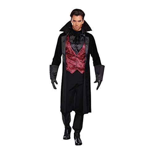 Bloody Vampire Costumes - Dreamgirl Men's Bloody Handsome Costume, Black/Red,