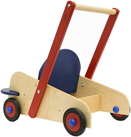 41OW wWjwrL. AC - HABA Walker Wagon - First Push Toy With Seat & Storage For 10 Months And Up