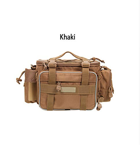Canvas Buckled Body Bag - Fishing Bag Lure Bag Backpack Canvas Bags with YKK Zip Khaki