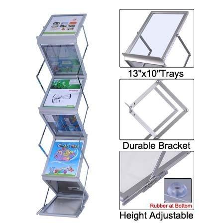 LEESONS Popup Magazine Display Rack + Case Portable Holder Brochure Literature Tradeshow