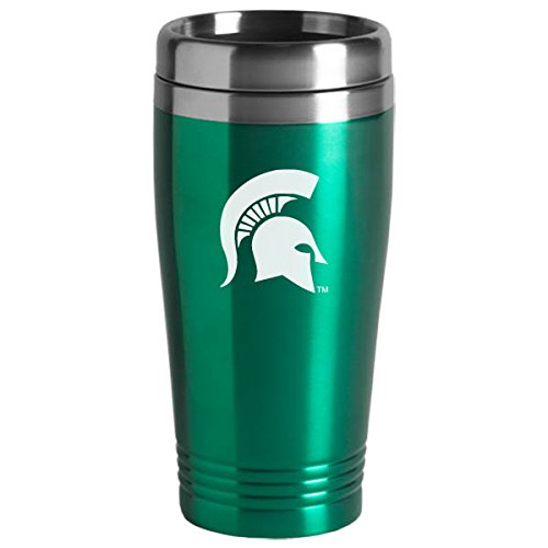 Michigan State Spartans Mug (Michigan State University - 16-ounce Travel Mug Tumbler - Green)