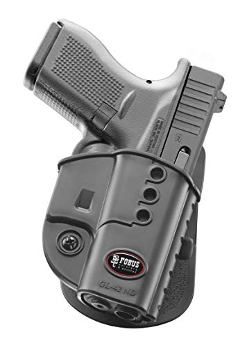 Fobus GL42ND Evolution Holster for Glock 42, Right Hand Paddle