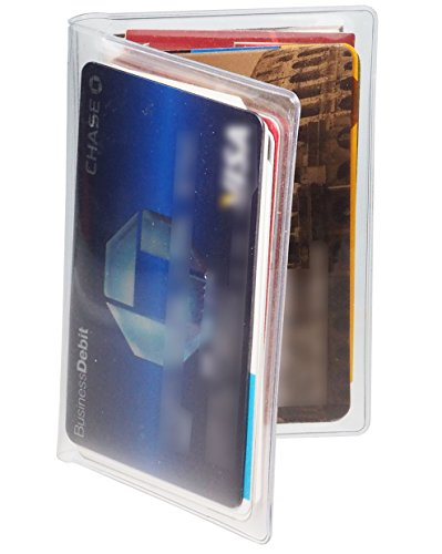 6 Wallets Credit Card Protector Gift Debit Medicare Business Flat Insert Slim Organizer Holder Case Bifold Folding Sleeves Clear 12 mil (The Best Debit Card)