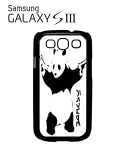Banksy Panda Street Art Mobile Cell Phone Case Samsung Galaxy S3 Black