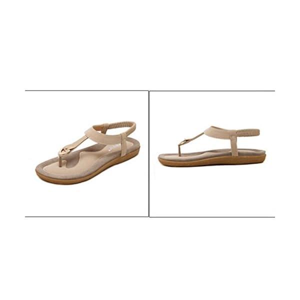 HOMEBABY – Sandali Donna estate bassi con perline,Taglie Forti Bendare Eleganti bassi Moda Sandali da Sposa Sandali bambina piatti,Bohemian modello con infradito Scarpe da danza