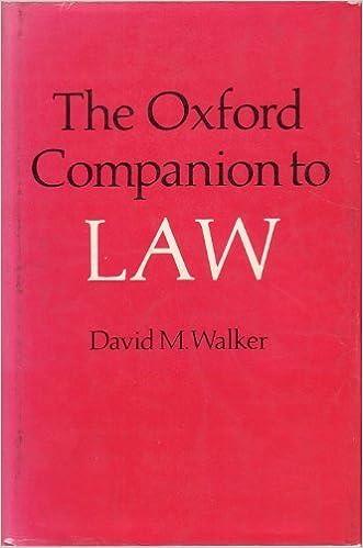 Book Oxford Companion to Law
