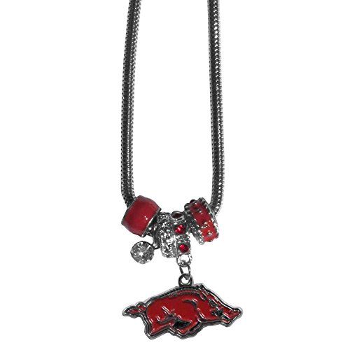 Arkansas Razorbacks Euro Bead Necklace