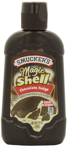 Smucker's, Magic Shell, Ice Cream Topping, Chocolate Fudge, 7.25oz Bottle (Pack of 3) by Smucker's
