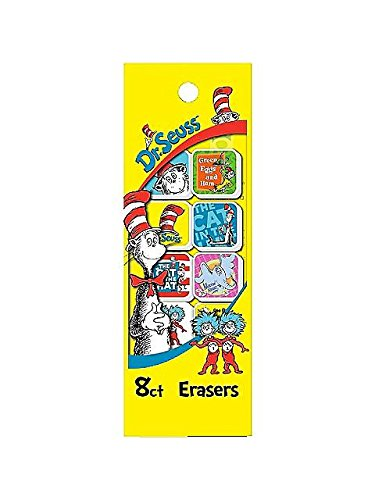 Dr Seuss Characters Costumes Ideas - Raymond Geddes BB19632 Dr. Seuss Erasers -8 Pack