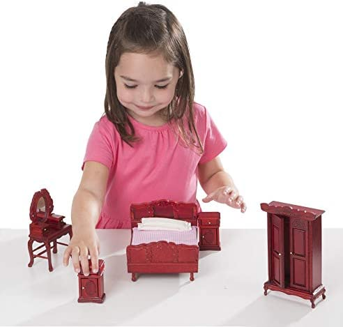 toys, games, dolls, accessories, dollhouse accessories,  furniture 9 picture Melissa & Doug Doll-House Furniture- Bedroom Set in USA