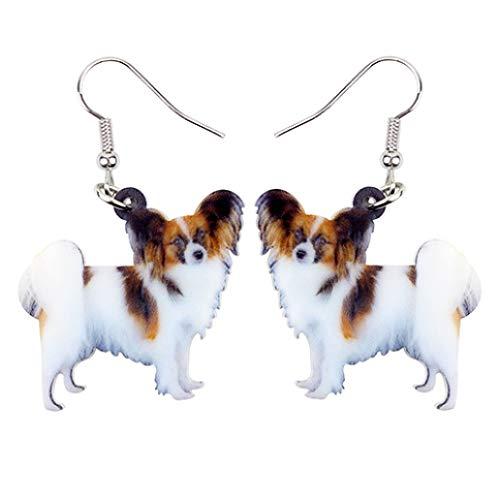 Acrylic Elegant Papillon Dog Dangle Earrings Big Long Ear Drop Fashion Women Jewelry For Party Banquet Earbob