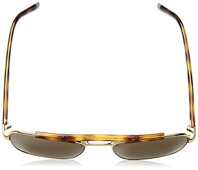 Calvin Klein Men's Ck1221s Navigator Aviator Sunglasses, Yellow Gold, 55 mm