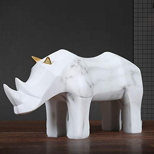 ETH Simple Origami Rhinoceros Ornaments Creative Model Room Home Decoration Geometric Origami Cattle Animal Furnishings Exquisite