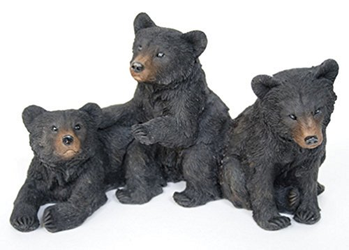 Black Bear Cubs 12 x 8 x 8 Inch Resin Crafted Tabletop Figurine -
