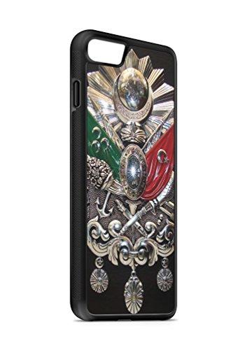 iPhone 7 PLUS Osmanli Armasi Tugrasi 2 SILIKON Flipcase Tasche Hülle Case Cover Schutz Handy SCHWARZ