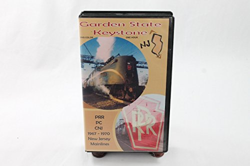 Price comparison product image Garden State Keystone - PRR PC CNJ 1967-1970 New Jersey Mainlines,  2002 - VHS Tape,  Trains