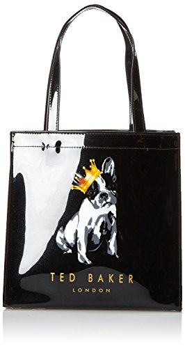 Ted Baker Laukku Stockmann : Ted baker french bulldog with crown icon tote black one