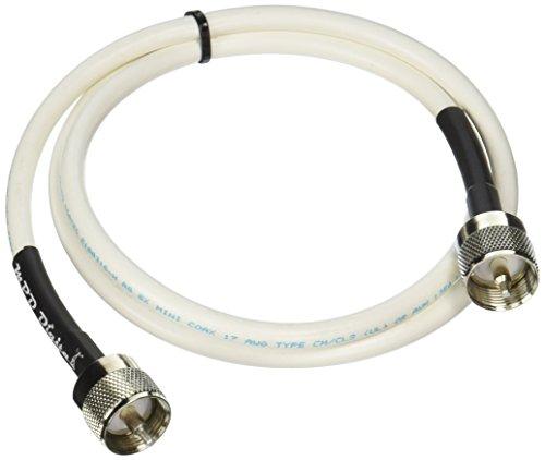 MPD Digital RG8x-W-PL259-3ft VHF Antenna Cable RF CB & AIS Mini-8 Coaxial (Silver Coaxial)