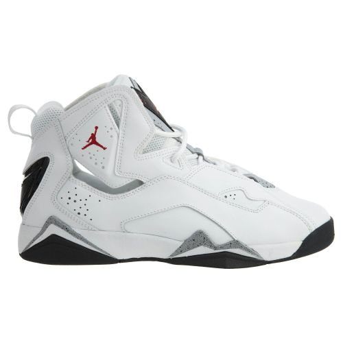 Jordan Kids True Flight BG White Gym Red Black Wolf Grey Size 3.5