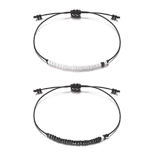 Pinky Promise Distance Matching Bracelets for Best Friend Couples Sisters Bracelet for Boyfriend Women Men Girls