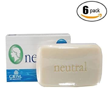 Amazon.com : Jabon Neutro Grisi Facial Para El Acne Y La Cara - Para Piel Sensible - Paquete De 6 Jabones Neutros : Beauty