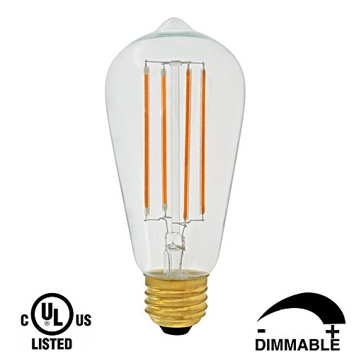 Dr.Lamp ST18 3W Vintage Lighting Led Light Bulb,Replace 40W Incandescent,Led Retrofit Lamps Warm White 2200K E26,Clear Edison Lights Antique Tiffany Lamps LED Filament Bulb,Dimmable CUL Listed(1 - Online Shop Tiffany