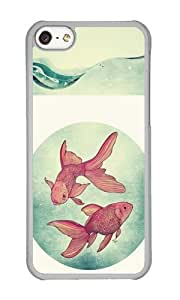 Apple Iphone 5C Case,WENJORS Personalized Goldfishes Hard Case Protective Shell Cell Phone Cover For Apple Iphone 5C - PC Transparent