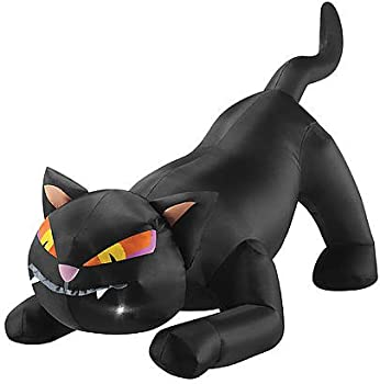 Totally Ghoul Airblown Black Cat with Tail Up