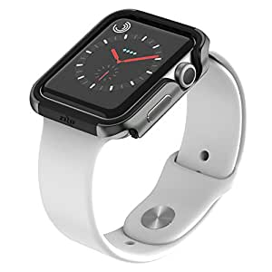 Zizo SHOCK Series Apple Watch 42mm Case - Military Grade Drop Tested with Metallic Bumper (Gray & Black)