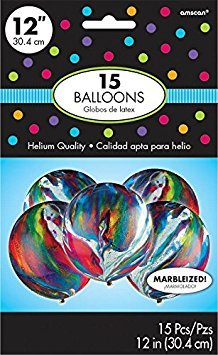 Marble Latex Balloons Color Theme Party Decoration, 12