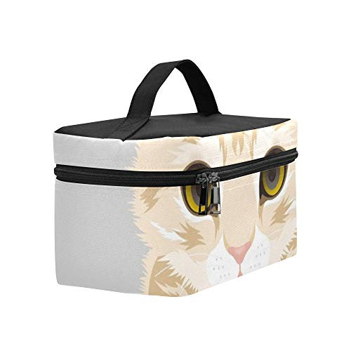 Cat British Short Hair Lunch Box Tote Bag Lunch Holder Insulated Lunch Cooler Bag For Women/men/picnic/boating/beach/fishing/school/work