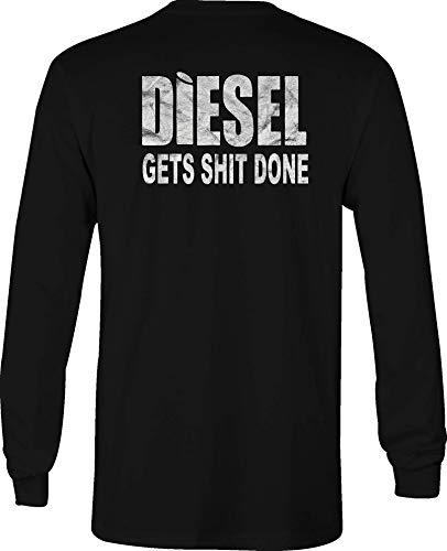 Diesel Long Sleeve T Shirt Men Love Smell Diesel Graphic Tee - Large Black ()