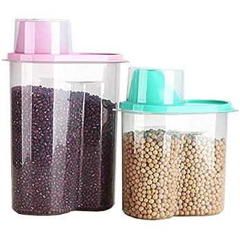 Amazon.com: Velidy 1.9L/2.5L Rice Storage Bin Cereal