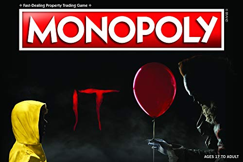 Monopoly IT Board Game | Based on The 2017 Drama/Thriller IT | Officially Licensed IT Merchandise | Themed Classic Monopoly Game -